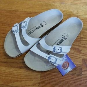 Birkenstock White Ibiza Sandal